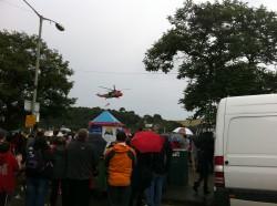 Dartmouth Royal Regatta Events - Lynx Helicopter, Regatta Rock
