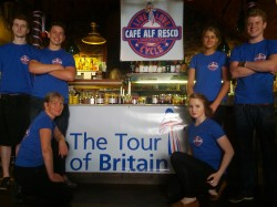 Celebrating the Tour of Britain at Cafe Alf Resco