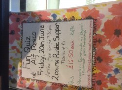 Quiz Night & Rustic Supper Fundraiser for Dartmouth In Bloom