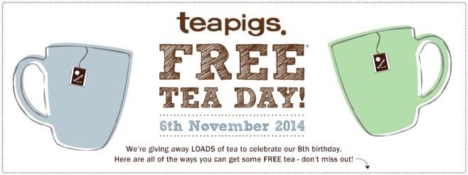 Free Tea Day.....Fancy a cuppa on us?!